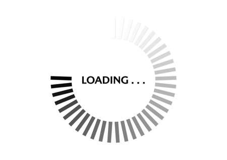 Black and white circle progress loading bar vector illustration Illustration