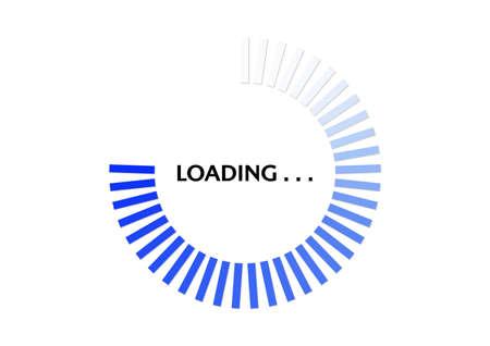 Blue circle progress loading bar vector illustration