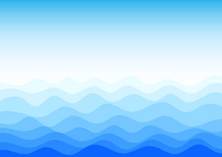 Blue water wave texture abstract background vector illustration