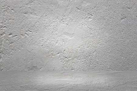 Vintage grunge rough white cement wall texture abstract background Stock fotó