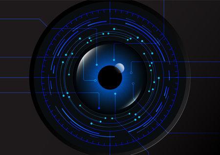 Futuristic eye detection scanning technology concept vector illustration