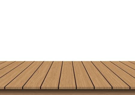 Brown vintage wooden tabletop vector illustration