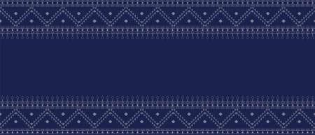 Ancient thai fabric texture pattern abstract background vector illustration Illusztráció