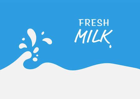 Milk splash vector illustration abstract background Illusztráció