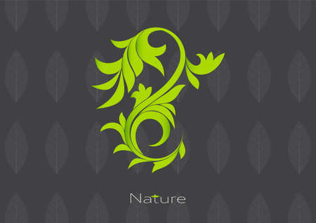 Leaves plant logo pattern template vector