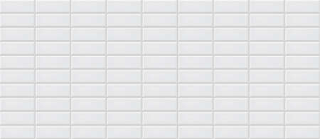 White ceramic tiles texture abstract background vector