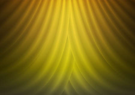 Golden curtain wall with spotlight texture abstract background vector illustration Illustration
