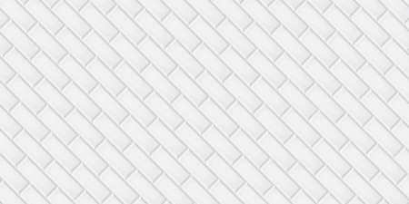 White ceramic tiles diagonal pattern texture abstract background vector illustration