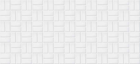 White ceramic tiles texture abstract background vector illustration Illustration
