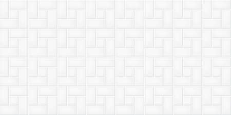 White ceramic tiles wall texture abstract background vector illustration Illustration