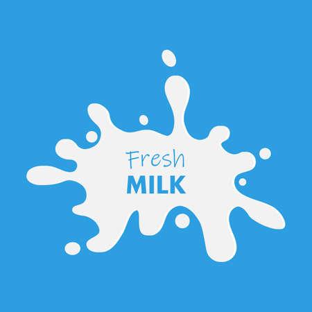 Milk splash vector illustration abstract background Illustration