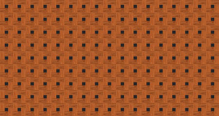 Retro brown crossed wooden plank wall texture abstract seamless pattern background vector illustration