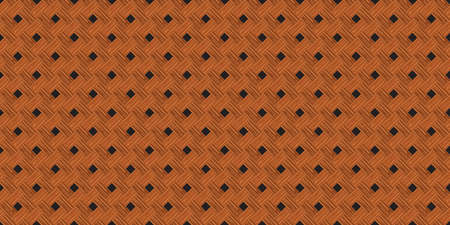 Retro brown diagonal crossed wooden plank wall texture seamless pattern background vector illustration