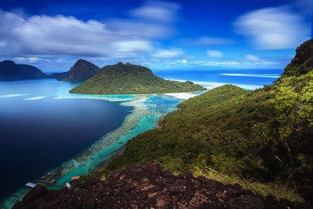 saturated color: Majestic view of Semporna Island