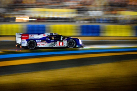 24: A Toyota TS030 racing at the Le Mans 24 Hours