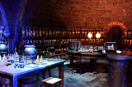 The Hogwarts Potions Room at Warner a Brothers Studio