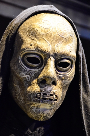 harry: Harry Potter Death Eaters Mask at Warner Brothers studio