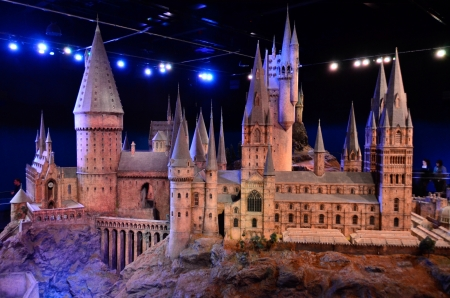 The Hogwarts Castle scale model at Warner Brothers studio