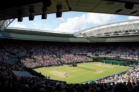 tennis stadium: Tribunal central de Wimbledon