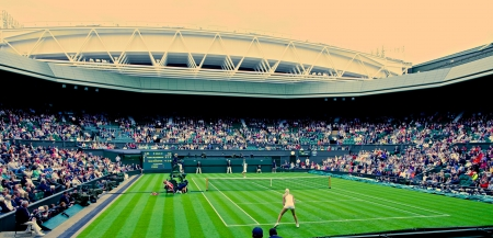 center court: Wimbledon Centre Court Stock Photo