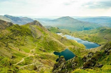 Snowdonia Lakes Stock Photo