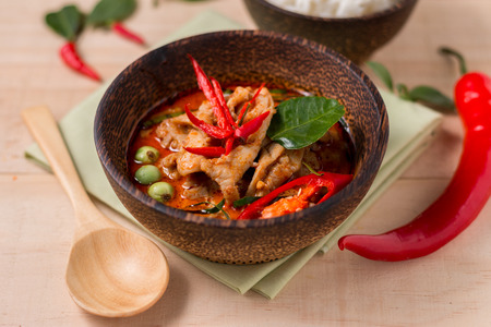 spicy food: spicy chicken curry ,popular Thai food.