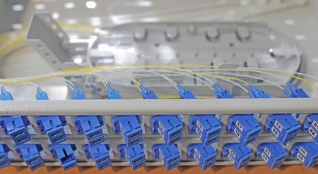patch panel: fiber optical network cables patch panel. Optical ODF