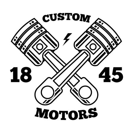 Piston cross illustration logo vector 矢量图像