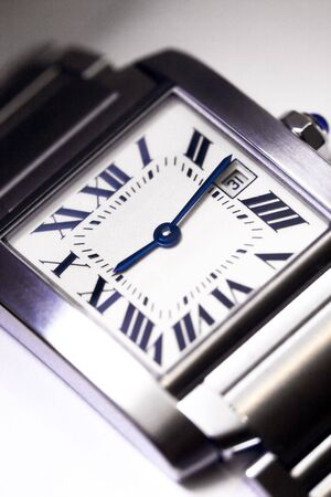 Close up of the face of a luxuty timepiece