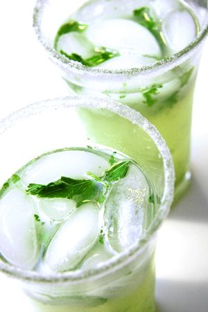 Cold mojitos, summertime patio drink.