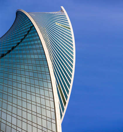 abstract architecture evolution. Skyscraper windows Evolution Tower in Moscow