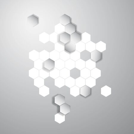 gauze: Vector abstract color 3d hexagonal. Honeycombs Illustration