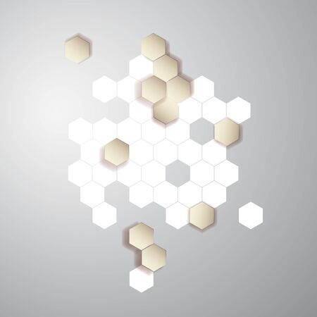 Vector abstract color 3d hexagonal. Honeycombs Illustration
