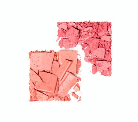 ceremonial make up: crushed blush palette isolated on white