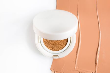 Foundation cushion on white background.
