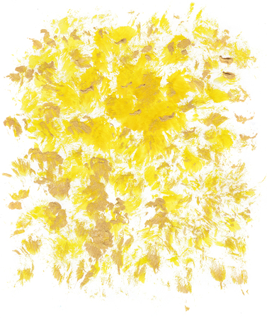 Abstract yellow artistic Background forming by blots