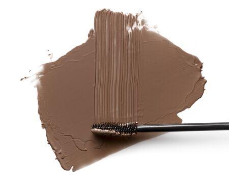 mascara shapes of eyebrow on white background.