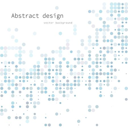 Blue Random Dots Background, Creative Design Templates