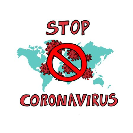 Coronavirus Asian flu ncov over Earth background. Concept of cure search and global world.