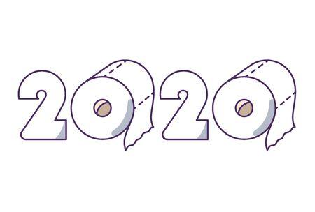 2020 in Toilet paper roll.