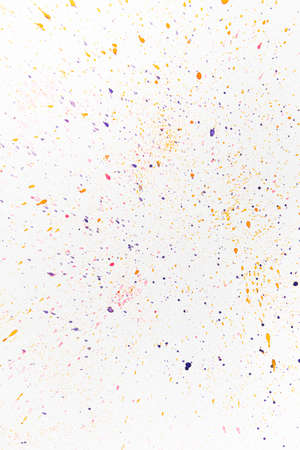 Abstract colored paint drops background. Over white. Reklamní fotografie
