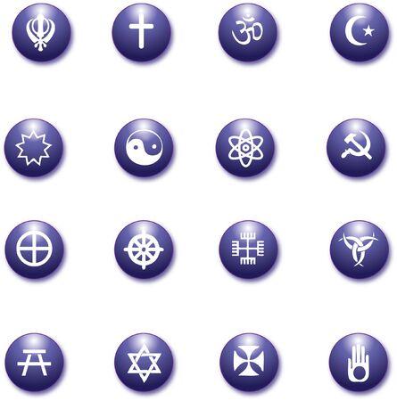 sikh: religious purple icons