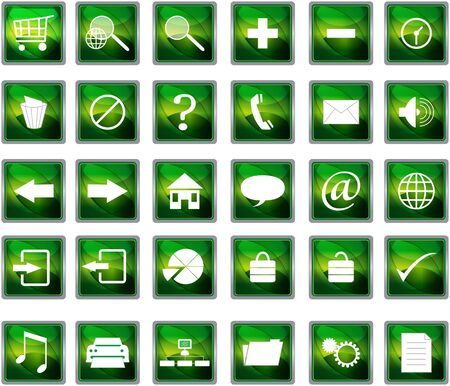 close out: green web navigation icons