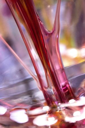 Closeup of colorful hand blown glass Stock fotó - 18014106