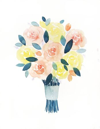 Hand painting of roses
