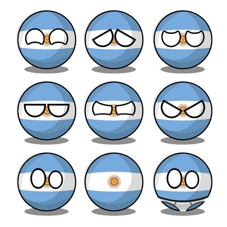 argentina countryball Ilustracje wektorowe