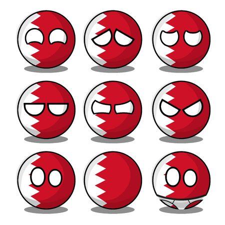 bahrain countryball Vecteurs