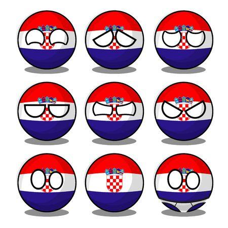 croatia countryball Vektorgrafik