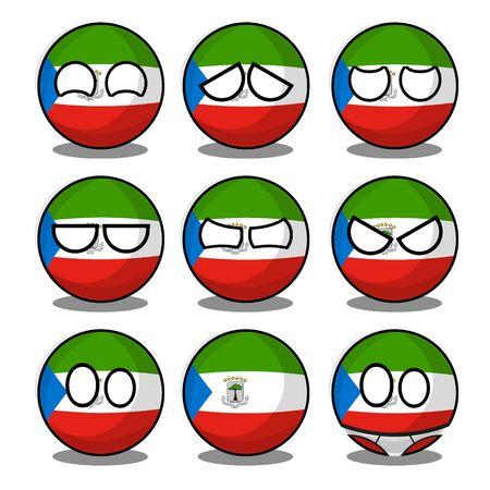 equatorial guinea countryball Иллюстрация