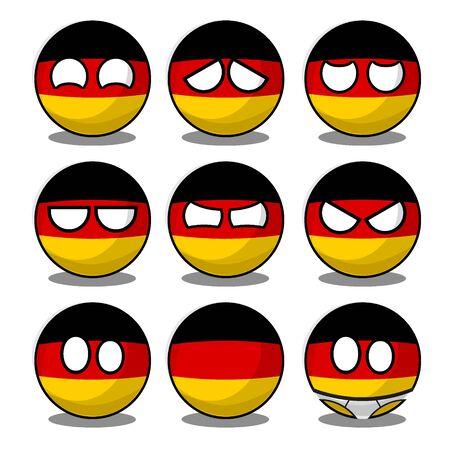 Deutschland Countryball Vektorgrafik